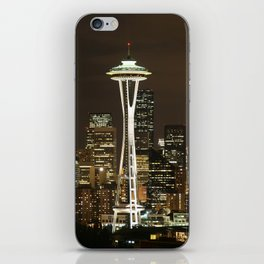 Seattle Space Needle at Night - City Lights iPhone Skin