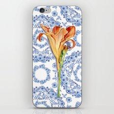 Blue Rhapsody Daylily iPhone & iPod Skin