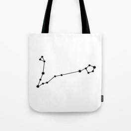 Pisces Star Sign Black & White Tote Bag