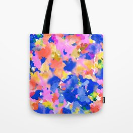 Floral splash Tote Bag
