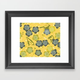 Birds & Blooms M+M Yolk by Friztin Framed Art Print