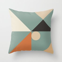 Mid Century 08C Throw Pillow
