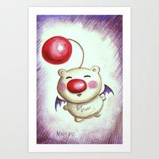 Fat and Squishy Moogle Art Print