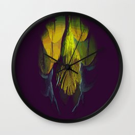 Feather Spine Wall Clock