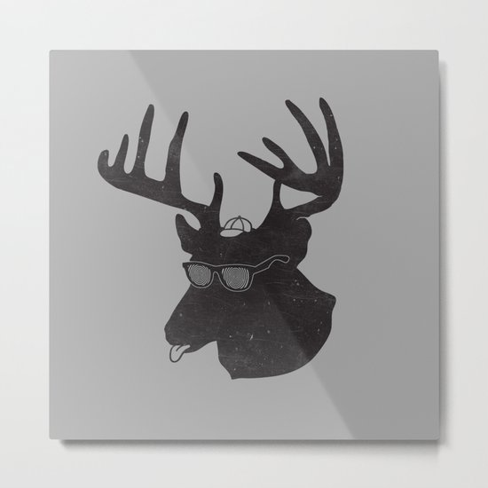 Weird Deer Metal Print
