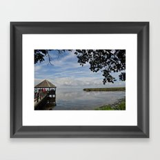 Water Landscape Scene Reflection on the Bay Framed Art Print