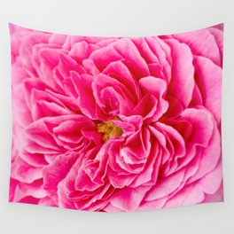 Pink Rose Garden (Macrophotography) Wall Tapestry