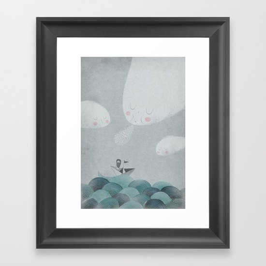Blowing by the Wind Framed Art Print