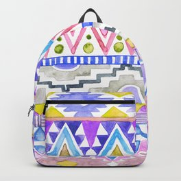 Watercolor Aztec Pattern violet Backpack