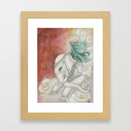 Climbing Ganesha Framed Art Print