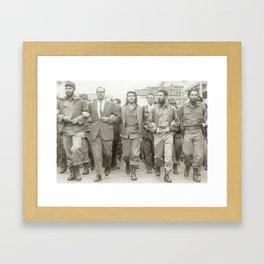 Che Guevara, Fidel Castro and Revolutionaries Framed Art Print