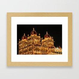 Mysore Palace on Dasara Framed Art Print