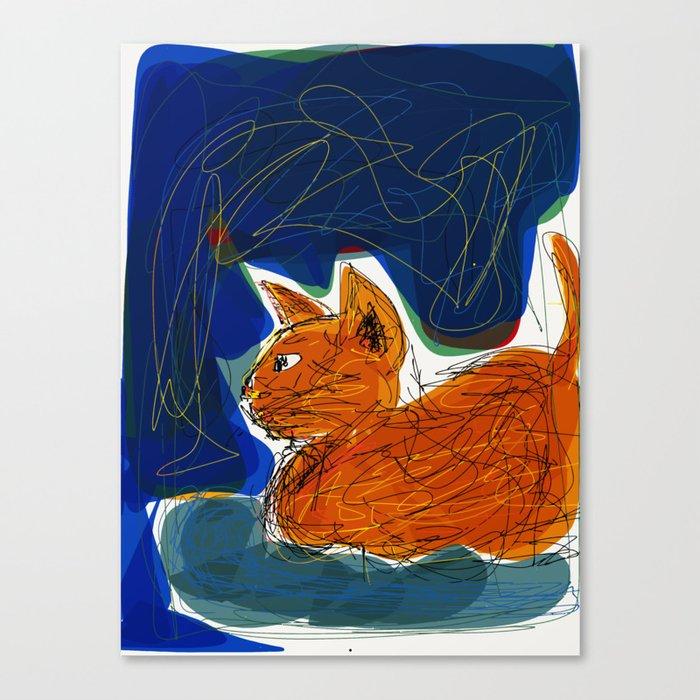 Socca Ginger Cat Art Leinwanddruck