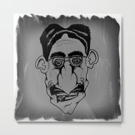 Groucho Metal Print