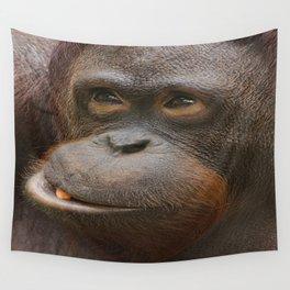 Orangutan Face Wall Tapestry
