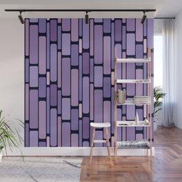 Retro Blocks Lavender Wall Mural