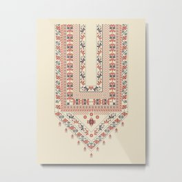 Palestinian traditional embroidery motif Metal Print