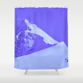 Winter Mountains in Periwinkle - Alaska Shower Curtain