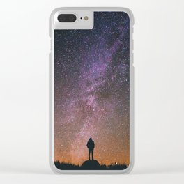 Midnight Sky Clear iPhone Case