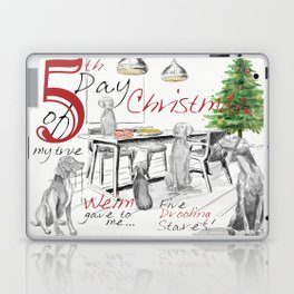 FIFTH DAY OF CHRISTMAS WEIMS Laptop & iPad Skin