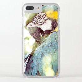 Magical Parrot - Guacamaya Variopinta - Magical Realism Clear iPhone Case