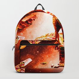 Outer Space Pug Riding Giraffe Unicorn - Pizza Backpack