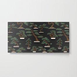 Bonsai Trees Pattern Metal Print