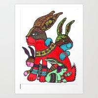 Rabbit Zen 2 Art Print