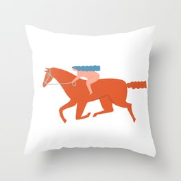 Naked derby Throw Pillow