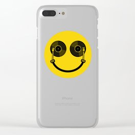 Smile DJ Clear iPhone Case
