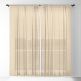 From The Crayon Box – Gold Brown Solid Color Sheer Curtain