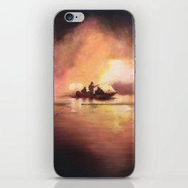 Marina Boat Fire - Fire Series iPhone Skin