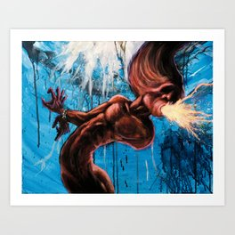 Bounded Thrall - Psychedelic painting Art Print