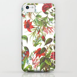 Ruby & Cerulean Floral iPhone Case