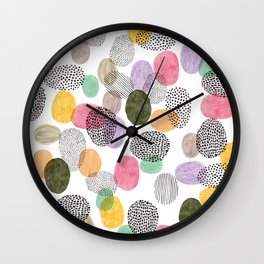 Bolls by Veronique de Jong Wall Clock