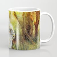 hare Mugs featuring Hare by Natalie Berman