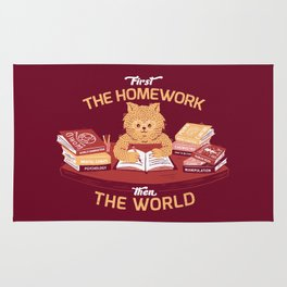 First the homework, then the world Rug
