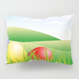 easter eggs Pillow Sham