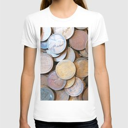 Watercolor Coins, Lincoln Wheat Pennies, 1926 03 T-shirt
