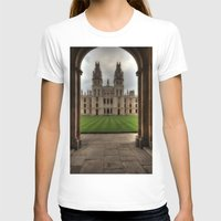 college T-shirts featuring Christ Church College, Oxford by Best Light Images