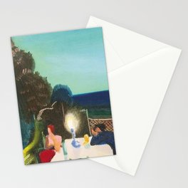The End of it All, a portrait by Lajos Gulácsy Stationery Cards