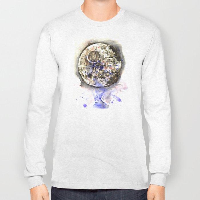 Star War Art Painting The Death Star Long Sleeve T-shirt