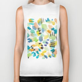 180803 August Abstract 4 | Colorful Abstract | Watercolors Brush Patterns Biker Tank