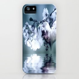 Frühlingsherz blue iPhone Case