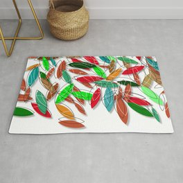 colored leaves Rug