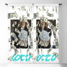 lotto, jackpot, dollar, money, 1st prize Blackout Curtain