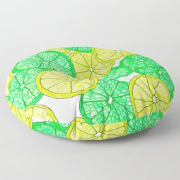 Lemons and Limes Floor Pillow