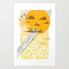 Desert Swordsman Art Print
