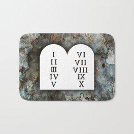 Ten Commandments Bath Mat