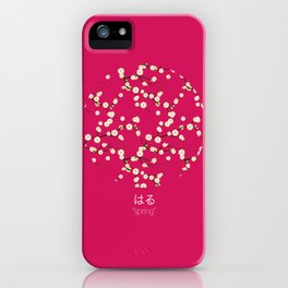 spring - hot pink iPhone Case